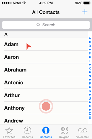 Contacts-Screen-Trackpad